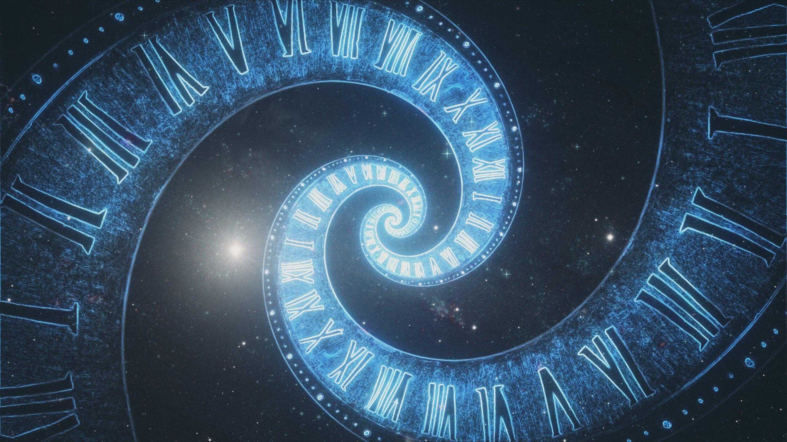 Spirale mit römischen Ziffern